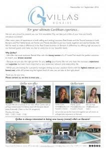 Qvillas News Letter