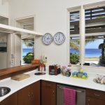 Beautiful open kitchen with a view