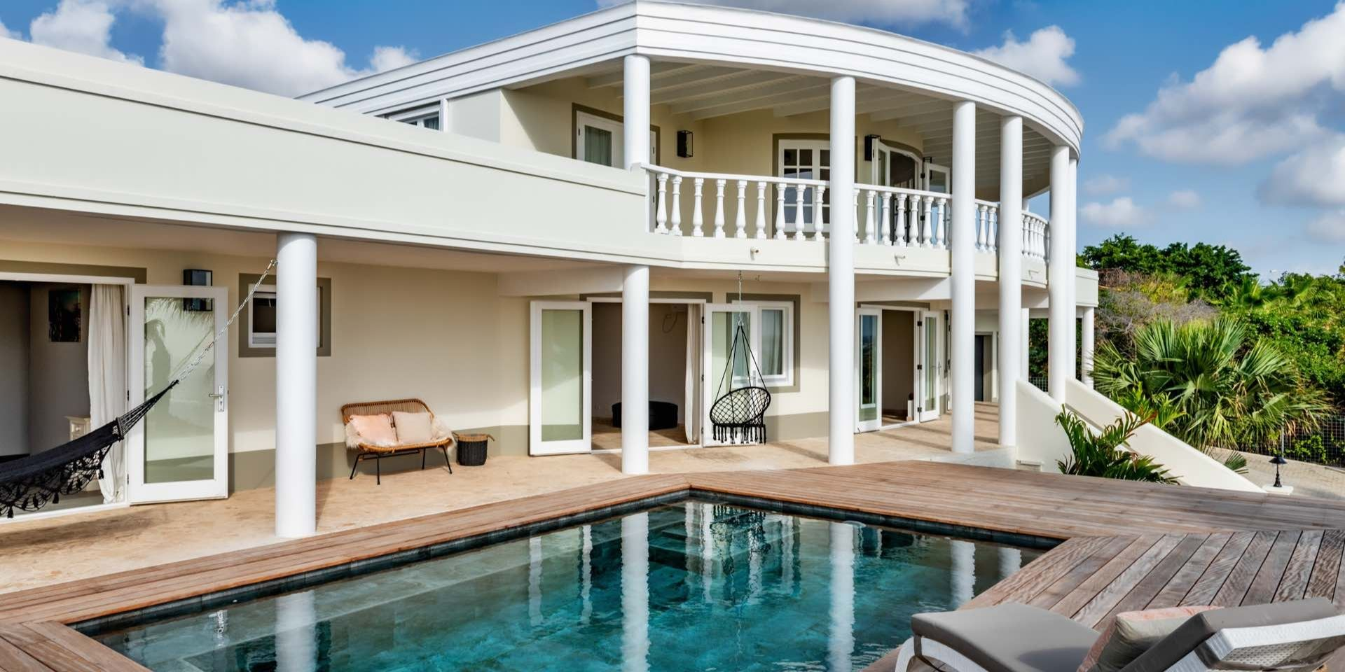 Terrace 2 - side view of ocean view villa Bonaire