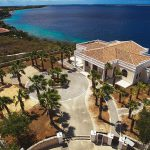 Villa isla bella front drone shot