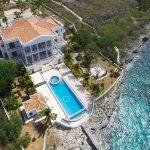 Villa isla bella back drone shot