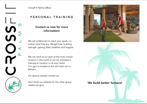 First page CrossFit Palms Flyer